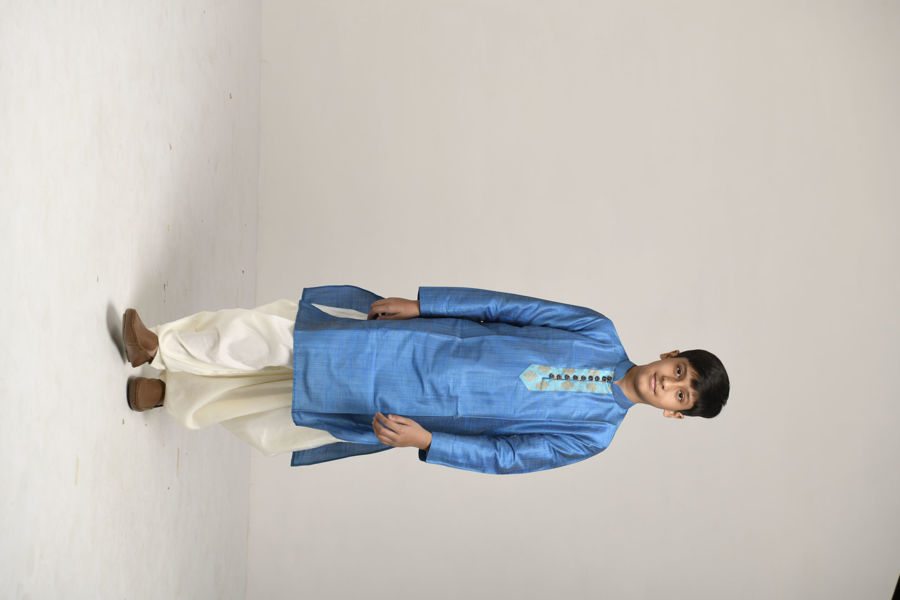 Picture of Mfab9 silk kurta for boys