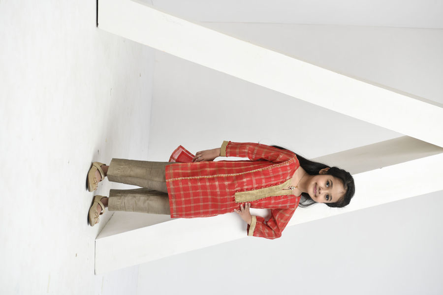 Picture of Mfab9 kids chanderi Kurti with Bottom