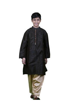 Picture of Mfab9 kids silk kurta pajama set