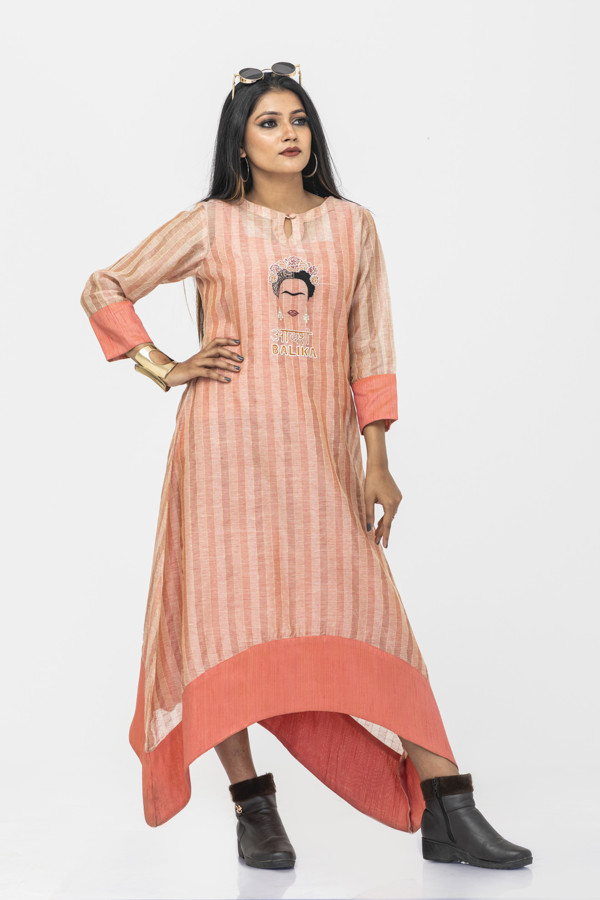 Picture of Mfab9 designer chanderi kurti